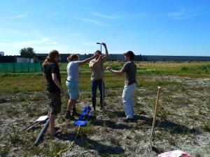 Boorwerkzaamheden bij LTO project 2013